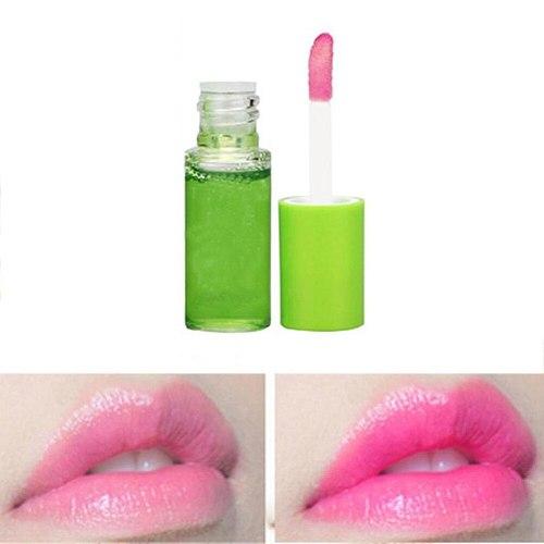 1PC Aloe Vera Essence Lipstick Moistourizer Color Change Lip Gloss Long Lasting Lips Balm Lip Soothing Gel 3.5g