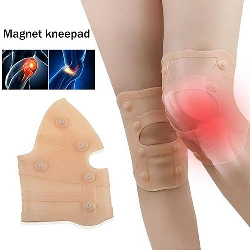 1pc SEBS Magnetic Knee Compression Support Pads Knee Joint Rheumatism Pain Relief Magnet Physical Therapy Pad Protective Gear