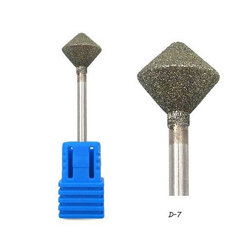 HYTOOS 10mm Rhombus Diamond Nail Drill Bit 3/32  Rotary Burr Manicure Cutters Electric Drill Accessories Nail Mills Tools-D-7