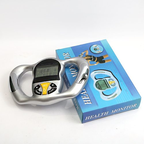 Hand-Held Health Body Fat Measure LCD Liquid Body Fat Monitor BMI Fat Measuring Instrument  Male and Female General Body Tools
