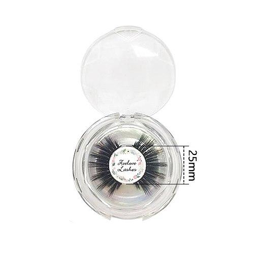 25mm Lashes Mink Eyelashes Customized Logo Stickers 200pcs Wholesale Label Free Design Logo For Mink Lashes Custom Logo