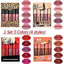 5Pcs/Set Waterproof Lipstick Sexy Vampire Lip Stick Matte Velvet Lipsticks Lips Makeup Cosmetics Labiales Matte Larga Duracion
