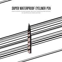 O.TWO.O 3pcs Eyes Makeup Set Ultra Fine 1.5mm Eyebrow Lengthening Mascara Long Lasting Waterproof Eyeliner Cosmetic Kit