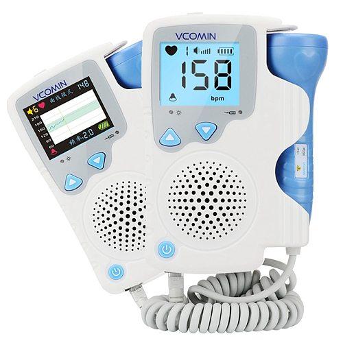 2.0MHz  Prenatal Fetal Doppler Baby Heartbeat  Monitor Baby Heart Rate Detector Sonar Doppler For Pregnant Women No Radiation