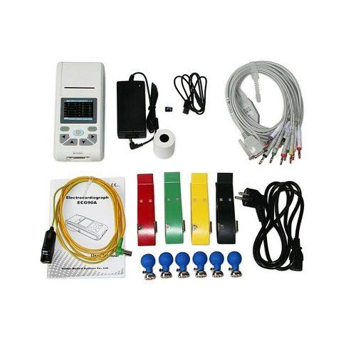 CONTEC ECG90A Handle Elektrokardiograph Single Channel 12 Lead Touch Screen ECG Machine