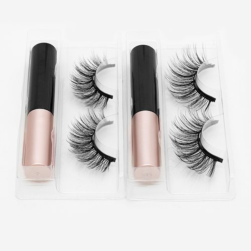 Magnetic Eyelashes 3D Mink False Eyelash Magnetic Eyelashes Magnet Eyeliner Fake Eyelash Tweezer Set Long Lasting lash Makeup