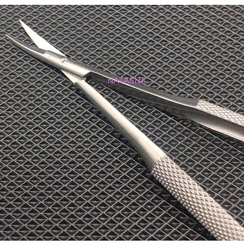 12cm bend head micro Cornea scissors Hand tool Surgery stainless steel Ophthalmic Instruments high quality