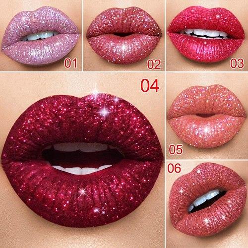 15 color matte liquid lipstick waterproof long lasting matte lip gloss shiny metal pink red lip makeup