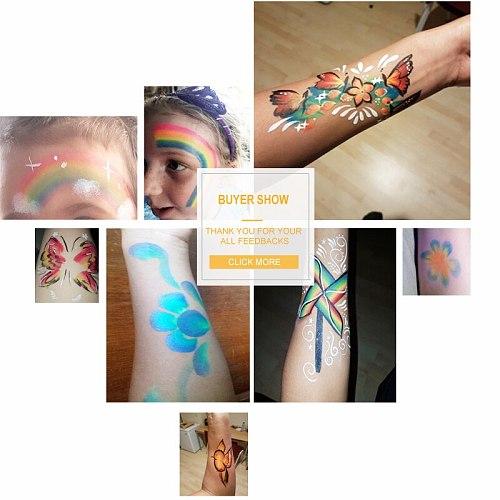 Pro Rainbow Body Face Paint Makeup Painting Pigment 30g/set Multicolor Series Body Art for Halloween Neon UV Metallic Face Paint