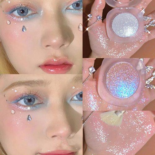 Diamond Glitter Mashed Potatoes Highlighter Diamond Highlighter Makeup Gel Face and Body Brighten Glitter Natural Contour Makeup