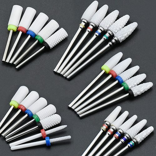 36 Type Ceramic Nail Drill Bit With Manicure And Pedicure For Electric Milling Machine Manicure Machine Nail Art Tools