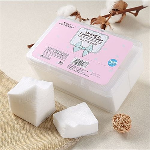 1000Pcs/Set Disposable Makeup Cotton Wipes Soft Makeup Remover Pads Facial Cleansing Paper Wipe Make Up Tool Cosmetic Cotton Pad