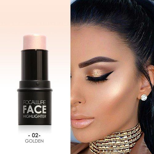 Focallure Face Highlighter&Bronzer Stick Shimmer Powder Creamy Waterproof Concealer Glitter face contour face highlighter pen