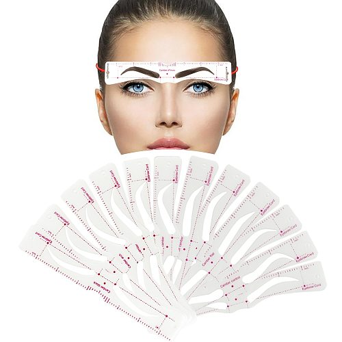 Grooming Shaping Balanced Template Eyebrow Makeup 8 In1 Magic Eye Brow Class Drawing Guide Eyebrow Stencil Card Template Helper