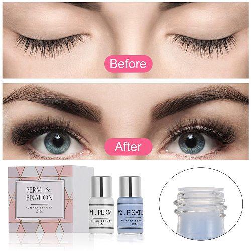 2Pcs 5g Makeup Eyelash Perming Eyelashes Curling Fixation Agent Kit Eye Lashes Perming Lift Curler Curl Perm Non-stimulating
