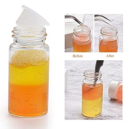 15/30ml Bottle Professional Eyelash Glue Remover Liquid Eyelash Tweezers Cleaning Sponge Eyelashes Extension Cleaner Makeup