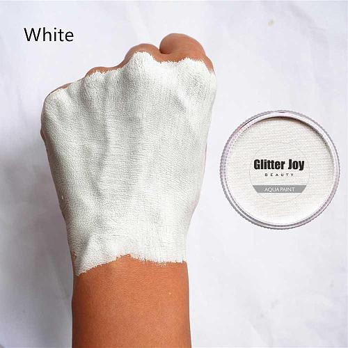 White 30g/pc Water Based Pure Face And Body Paint Pigment Skull Makeup in Halloween Party Fancy Dress Beauty Makeup Tool