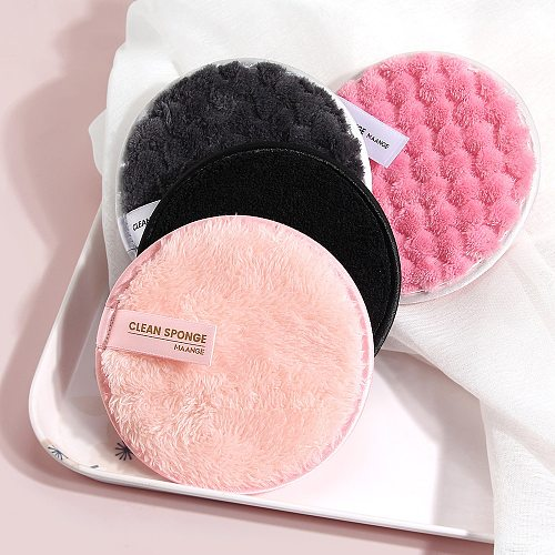 Reusable Makeup Remover Pads Cotton Wipes Microfiber Make Up Removal Discs Thick Sponge Cotton Quick Cleaning Pads Tool