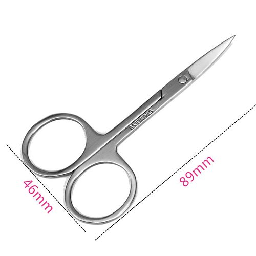 Stainless Steel Small nail tools Eyebrow Nose Hair Scissors Cut Manicure Facial Trimming Tweezer Makeup Beauty Tool