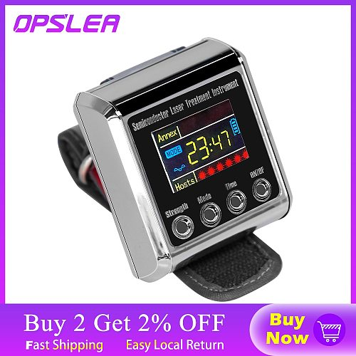 650nm Diode Physiotherapy Apparatus Laser Therapy LLLT for Diabetes Hypertension High blood Rhinitis Treatment Laser Wrist Watch
