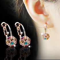 1 Pair Slimming Earrings Lose Weight Body Relaxation Massage Slim Ear Studs Patch Health Jewelry