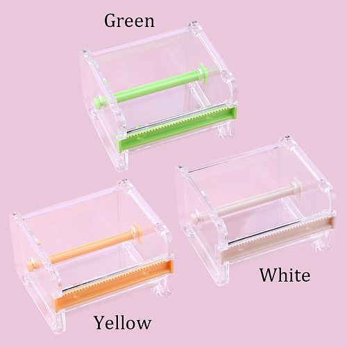 Portable Transparent Acrylic Tape Cutter Easy to cut off Micropore Paper Medical Tape Split Grafting Eyelash Tool