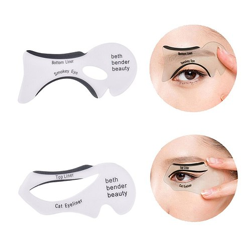 2pcs Pro Eyebrows Template Card Eyeliner Stencils Winged Eyeliner Stencil Models Template Shaping Eye Shadow Makeup Tools New