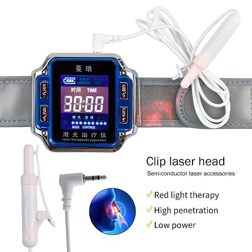 Laser Physiotherapy Diode 650nm Diabetic Wrist Watch LLLT For Rhinitis Hypertension Thrombosis Cholesterol Laser Therapy