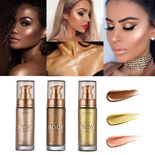 Gold Tube Concealer Liquid Waterproof Foundation Cream body foundation Whitening Cream Body Skin Gloss Concealer Makeup