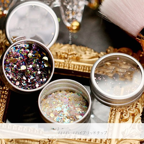 1 Pots 3color Unicorn Dandruff (iridescent color shift) Glitter mix For acrylic & gel nail art Loose glitter nail|Glitter makeup