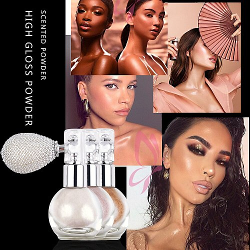 Mini Portable Makeup Atomiser Bottle Spray Shiny Glitter Highlighter Powder Glitter Shimmer Brightening Powder Makeup Tools