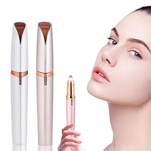 New Design Electric Eyebrow Trimmer Painless Eye Brow Epilator Mini Shaver Razors Portable Facial Hair Remover for Women
