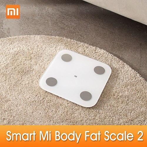 Original For Xiaomi Mi Body Composition Scale 2 Smart Fat Weight Health Scale BT BMI Scale Digital Scale Mi Fit APP Analysis