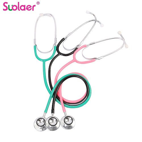 Portable Daul Head Stethoscope Professional Cardiology Stethoscope Doctor Medical Equipment Student Vet Nurse Medical Device
