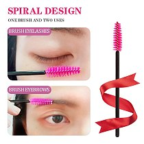 200Pcs Disposable Eyelash Eyebrow Brushes One-off Mascara Applicator Wand Spoolers Eyelash Comb Brushes Makeup Tool Set