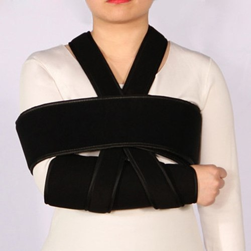 Medical Arm Sling Shoulder Brace Support Adjustable Rotator Cuff Elbow Support Includes Immobilizer Band for Quick Recovery