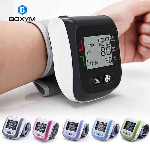 BOXYM Medical Digital LCD Wrist Blood Pressure Monitor Automatic sphygmomanometer Tonometer wrist Blood Pressure Mete Tonometer
