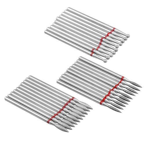 10pcs Diamond Nail Drill Bit Set of Milling Cutters for Manicure Diamond Bit Milling Cutter Nail Bits for Electric Drill Machine