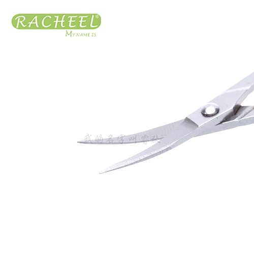 2pcs Different Size Pro Eyebrow Eyelash Scissors Straight and angle  Makeup Scissors Eyelash Extension Tool