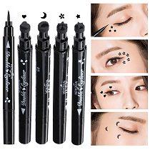 Double Head Eyeliner Stamp Eyeliner Pen Moon Heart Flower Eyeliner Make Up Waterproof Eyeliner Pencil Cosmetics Makeup TXTB1