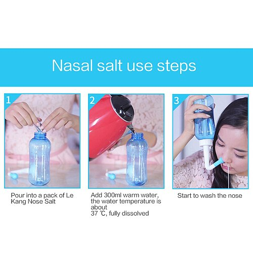 2.7g 60 Packs Nasal Irrigation Salt Nasal Rinse Mix Wash Nasal Salt For 300ml Cleans Moistens & Protects The Nose
