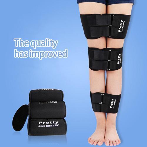 3PCS O/X Type Leg Bowed Legs Correction Belts Band Posture Corrector Strap Black Adjustable Bandage Effective Durable Belts Kit