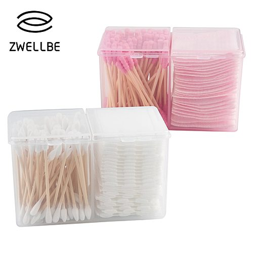 Clear Cotton Swab Organizer Holder Cotton Pad Storage Box Transparent Remover Paper Makeup Desktop Tool Jewelry Case Container