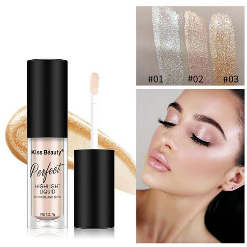 Makeup Highlighter Face Brightener High-light lying silkworm brightening Eye shadow liquid foundation concealer lasting