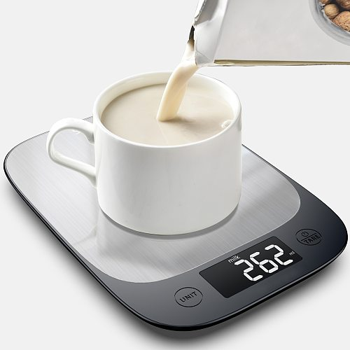 Sinocare5/3Kg OZ/ML/G Kitchen Scale Stainless Steel Weighing Scale Food Diet Postal Balance Measuring Tool LCD Electronic Scales