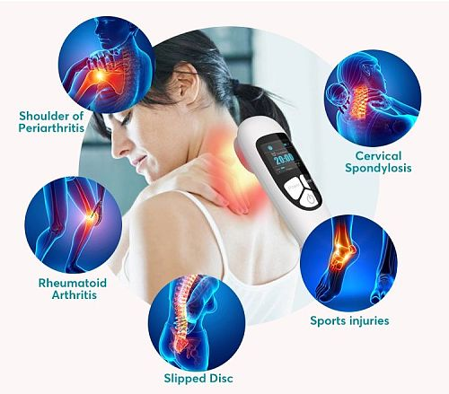 Cold Laser LLLT 808nm Diode Laser Treatment Osteoarthritis and Neuropathy Pain Relief Arthritic Pain Reliever