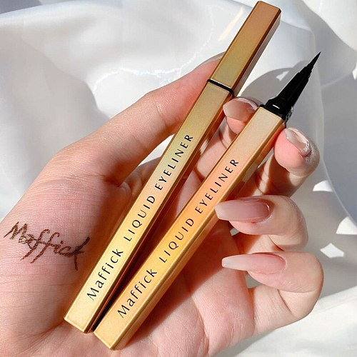MAFFIC Red Brown Liquid Eyeliner Pencil Waterproof 24 hours Long Lasting Eye Makeup smooth Superfine Quick-drying Eye Liner Pen