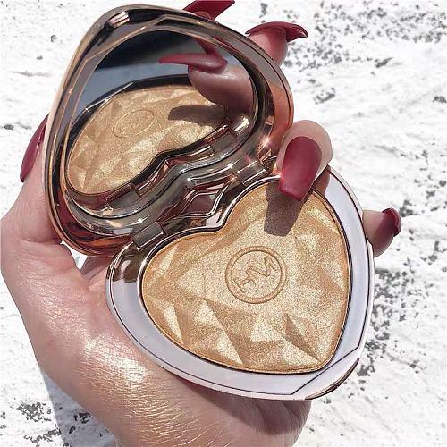 New Shimmer Highlighter Powder Palette Face Contouring Makeup Highlight Face Bronzer Highlighter Brighten Skin 4 Colors