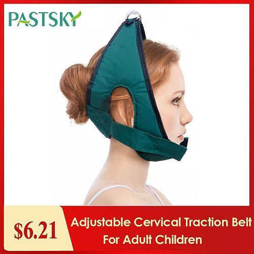 Adjustable Cervical Traction Belt Breathable Sling Tractor Neck Stretch Fixing Straps for Adult Children Home Medical Equipment