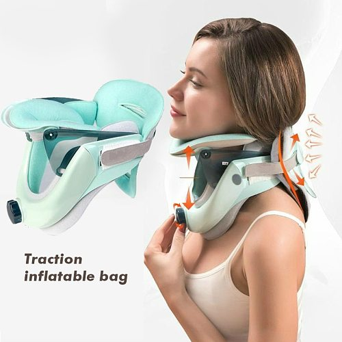 Inflatable Cervical Vertebra Traction Neck Stretcher Support brace Tension Relieves Neck Pain Soreness Theraputic Neck Hammock